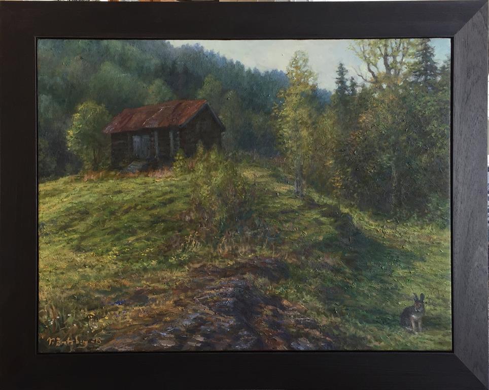 Maimorgen på setervollen Oljemaleri (60x80 cm) kr 40000 mr