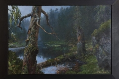 Melankoli (skogtjern) Oljemaleri (60x90 cm) kr 45000 mr