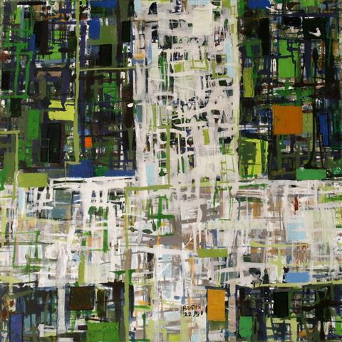 By 22(2) Akrylmaleri 60x60cm 4500,-kr u.r.