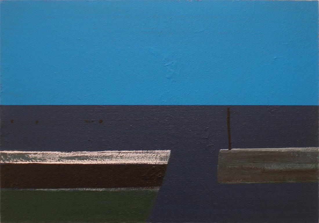 Shoreline II Akryl på treplate (30x43 cm)