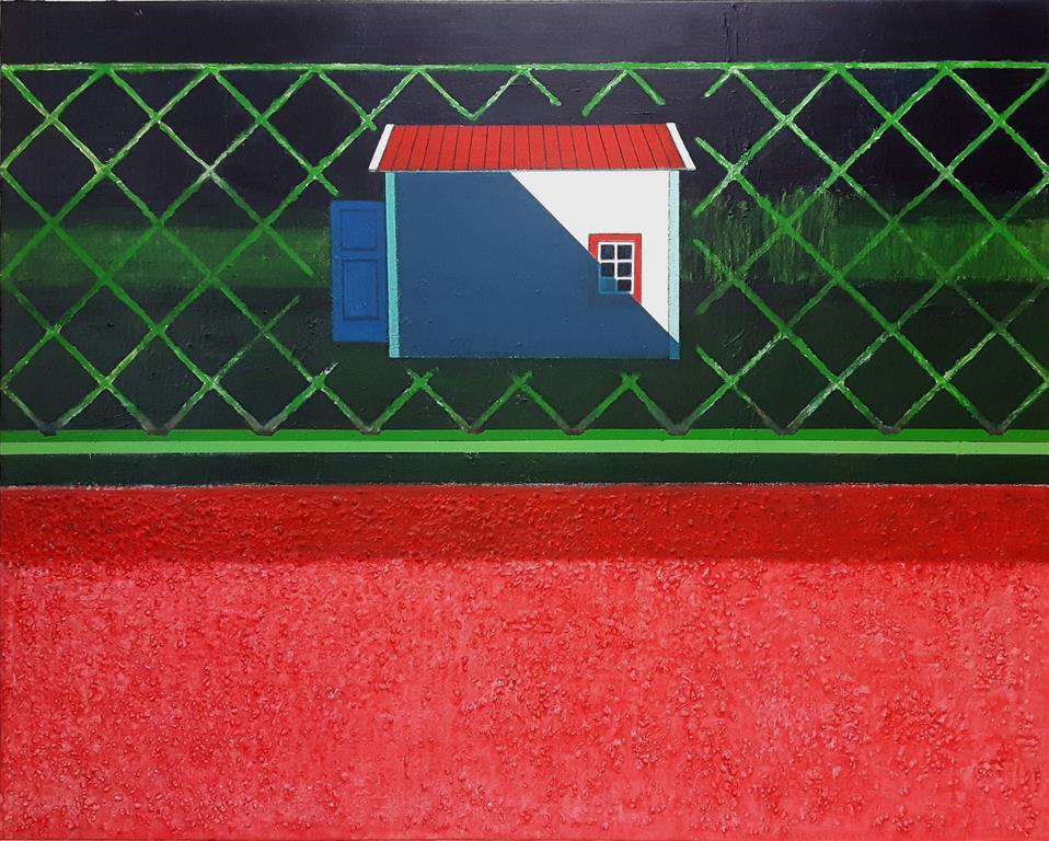 Behind the Scenes IV Mixed media på lerret (120x150 cm) kr 35000 ur