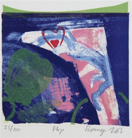 Flip Litografi 13x14 1200,-kr u.r.