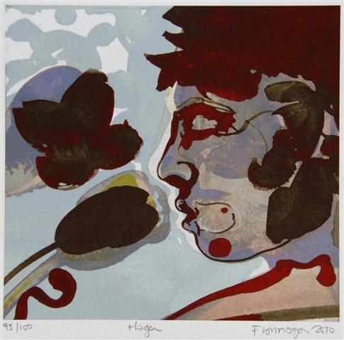 Hagen (blaa) Digitale trykk 16x17cm 900,-kr u.r.
