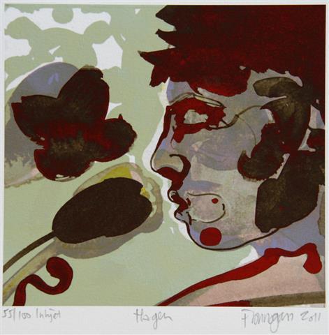 Hagen (groenn) Digitale trykk 16x17cm 900,-kr u.r.