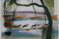 Running Deer Digitale trykk 45x39cm 3000,-kr u.r.