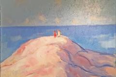 Bltt hav Maleri (544x46 cm) kr 1000 mr