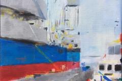 Astrid Hygom Esbjerg Havn I Akrylmaleri (50x40 cm) kr 4900 ur