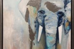 Connie Borgen Elefant III Akrylmaleri (80x60 cm) kr 6000 mr