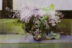 Blomstervase Akvarell 52x76cm 4000,-kr m.r.