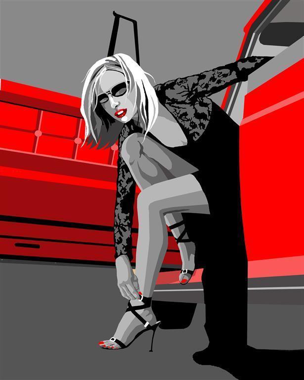 High heels 50 x 39 cm Kr 2520,-