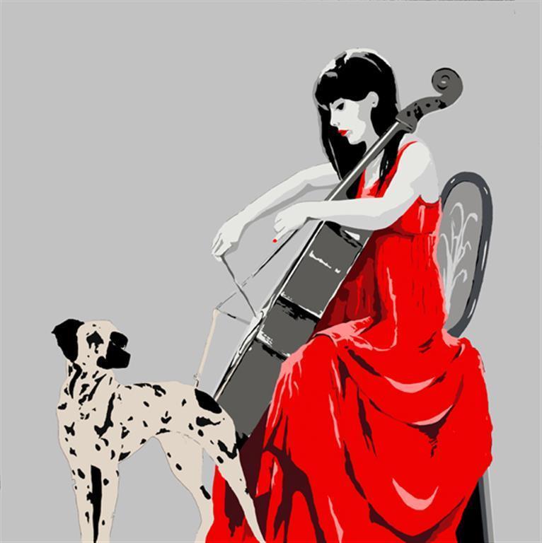 Melodi for dalmatiner 40 x 40 cm (opplag 40) Kr 2520,-