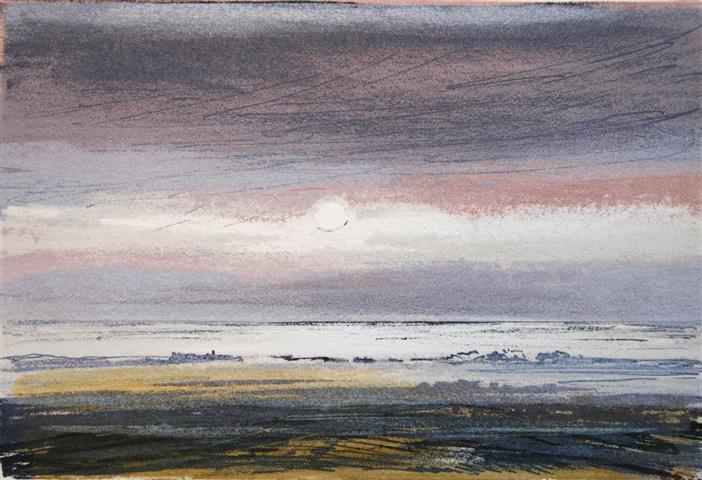 Vintersol, Jaeren Litografi 10x15cm 350,-kr u.r.