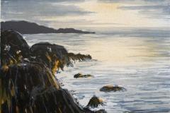 Havet syd i Rogaland Litografi 18x23,5cm 700,-kr u.r.