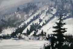 Vintermorgen Litografi 33x44cm 1600,-kr u.r.