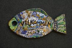 Velkommen-skilt 17x31,5 kr 500