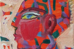Portrett XII Oljemaleri 15x15 cm 900 ur