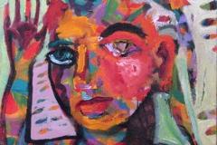 Portrett-ed Oljemaleri 20x20 cm 1500 ur