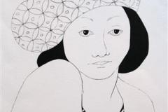Damen Litografi 32x22 cm 1000 ur
