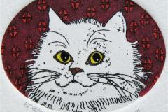 Katt I Etsning 3,5x4,5 cm 350 ur