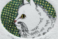 Katt III Etsning 3,5x4,5 cm 350 ur