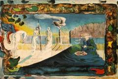 Den fortapte maler Litografi 29x45 cm 2900 ur