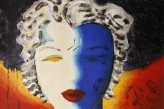 Hedda Gabler, roed Litografi 63x52 cm 5000 ur