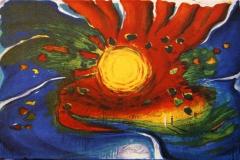 Solblomst Litografi 21x34 cm 1800 ur