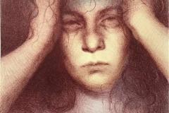 Forgotten, brunt Litografi (35x24 cm) kr 1200 ur