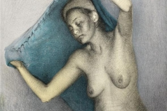 Yasmak, blått Litogfari (49x38 cm) kr 2500 ur