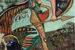 Engelen med trygge steg Maleri (100x80 cm) kr 20000 ur