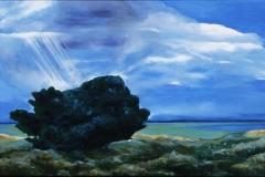 Solbad Akrylmaleri 60x120 cm 20000,-kr m.r.