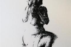 Sittende akt Seriegrafi 30x25 cm 1500 ur