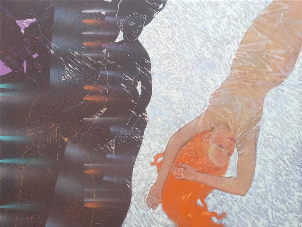 Insomnia 10393 Olje/akrylmaleri (90x120 cm) kr 25000 ur