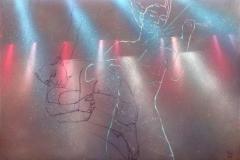 Fiolin Akrylmaleri (80x120 cm) kr 18000 ur