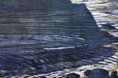 Fjellet midt imot Tresnitt 51x66,5 cm 1600 ur