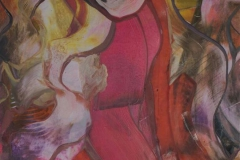Komposisjon 1 Encaustic (38x36 cm) kr 3000