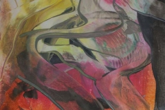 Komposisjon 2 Encaustic (38x36 cm) kr 3000
