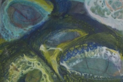 Komposisjon 5 Encaustic (38x36 cm) kr 3000