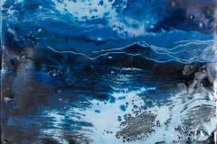 Landskap 12 Encaustic ( 22x22 cm) kr 2000