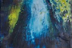 Landskap 18 Encaustic ( 22x22 cm) kr 2000