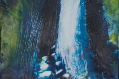 Landskap 19 Encaustic ( 22x22 cm) kr 2000
