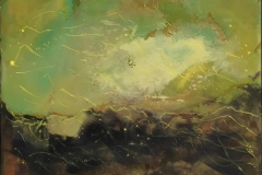 Landskap 24 Encaustic (22x22 cm) kr 2000