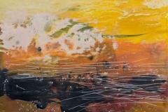 Landskap 29 Encaustic ( 22x22 cm) kr 2000