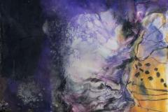 Landskap 7 Encaustic ( 22x22 cm) kr 2000