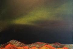 Nordlys Encaustic (70x70 cm) kr 8000