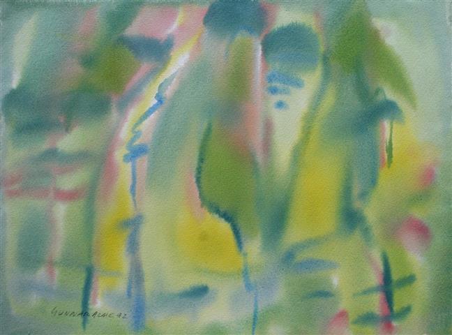 Komposisjon 1 Akvarell (36x48 cm) kr 3000 ur