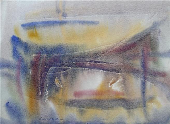 Komposisjon 11 Akvarell (30x40 cm) kr 2000 ur