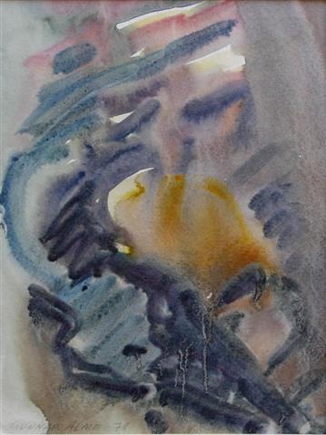 Kvad Akvarell (28x21,5 cm) kr 800 ur