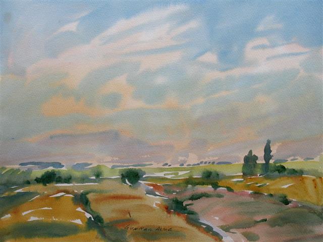 Landskap 21 Akvarell (36x48 cm) kr 3000 ur