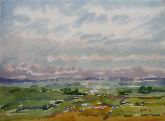 Landskap 24 Akvarell (36x48 cm) kr 3000 ur